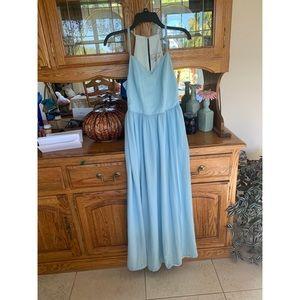 Adelyn Rae Baby Blue Maxi Dress